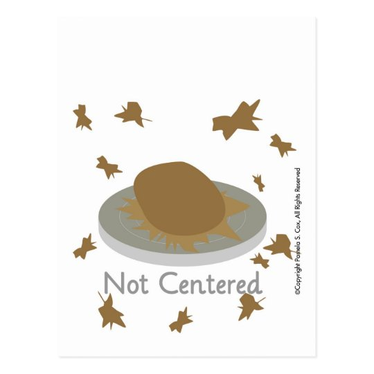 Not Centred Postcard