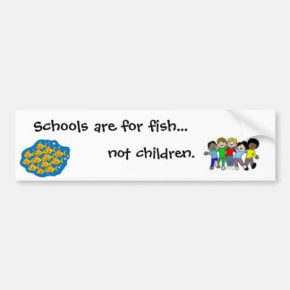 not children bumper sticker