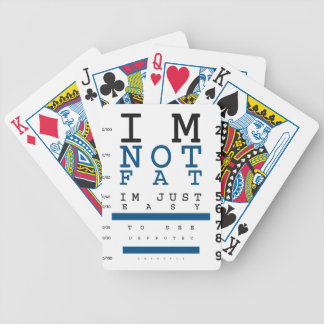 Not Fat Just Easy To See Bicycle Playing Cards