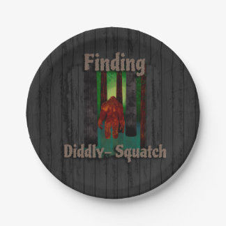 not finding bigfoot paper plate