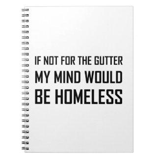 Not For Gutter Mind Be Homeless Spiral Notebook