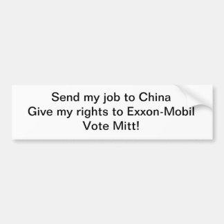 Not for Mitt Romney Bumper Sticker