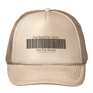 """""""Not For Resale"""" Cross Barcode Hat"""
