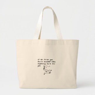 Not for you large tote bag