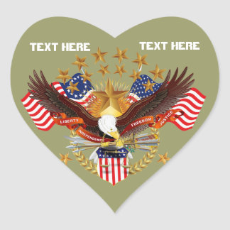 Not Forgotten America Heart Only See Notes Heart Sticker