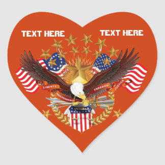 Not Forgotten America Heart Only See Notes Sticker
