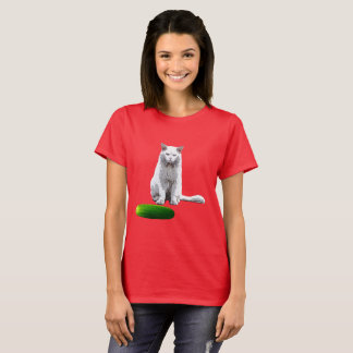 Not Funny, Cat and Cucumber T-Shirt