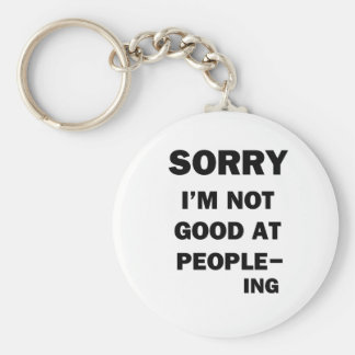 Not Good at People - Ing Keychain