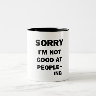 Not Good at People - Ing Two-Tone Coffee Mug