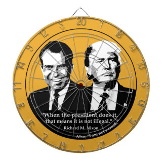 Not Illegal President Dartboard