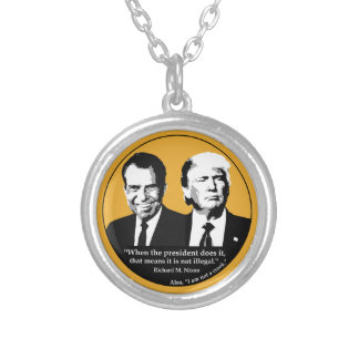 Not Illegal President Silver Plated Necklace