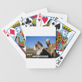 Not Impressed statement Bicycle Playing Cards