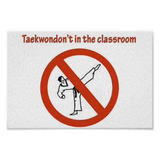 not in the classroom poster