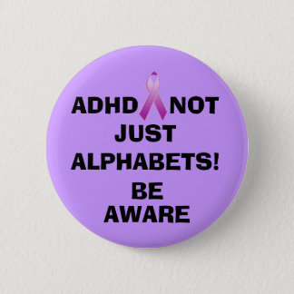 NOT JUST ALPHABETS!, BE,... 2 INCH ROUND BUTTON