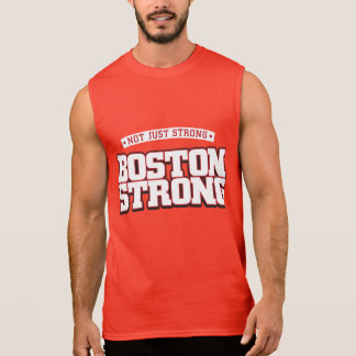 Not just strong. Boston Strong. red tank