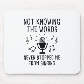 Not Knowing The Words Mouse Pad