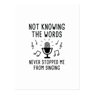 Not Knowing The Words Postcard