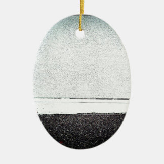 Not Lonely Ceramic Oval Ornament