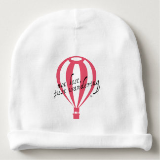 Not Lost, Just Wandering Travel Slogan Baby Beanie
