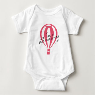 Not Lost, Just Wandering Travel Slogan Baby Bodysuit