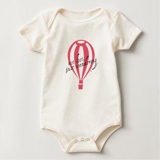 Not Lost, Just Wandering Travel Slogan Baby Bodysuit