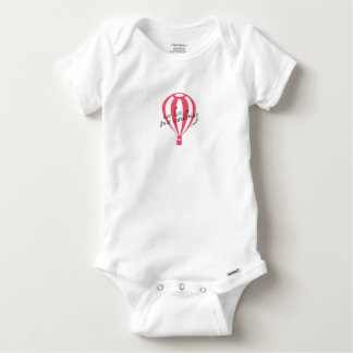 Not Lost, Just Wandering Travel Slogan Baby Onesie