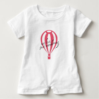 Not Lost, Just Wandering Travel Slogan Baby Romper