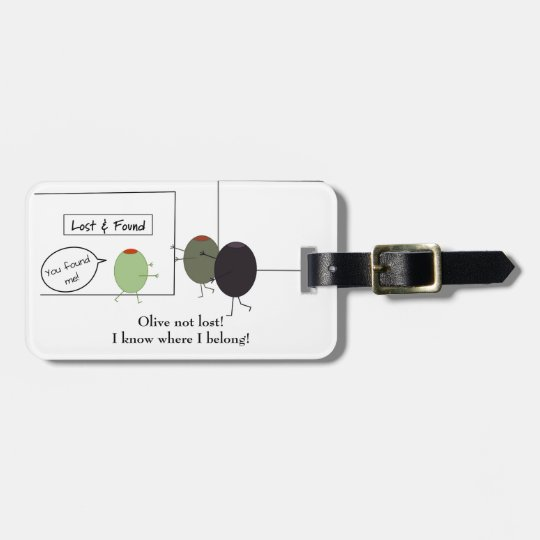 Not Lost Pun Luggage Tag