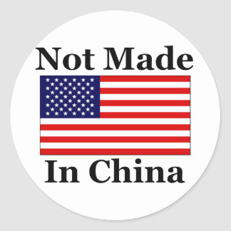 Not Made In China - American Classic Round Sticker