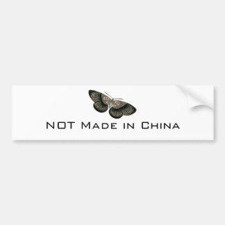 NOT Made in China BS Butterfly Bumper Sticker