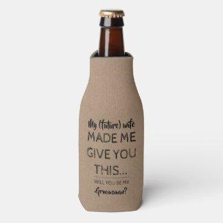 Not Me - Funny Groomsman Proposal Bottle Cooler