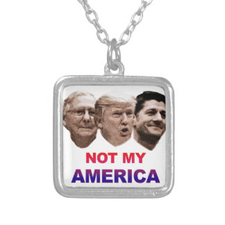 Not My America Silver Plated Necklace