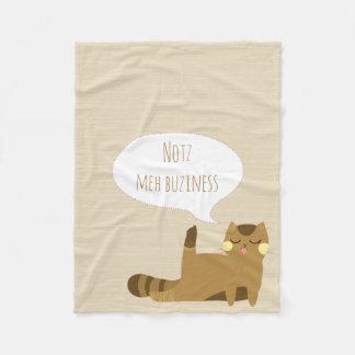 """""""Not my business"""" Cat Fleece Blanket"""