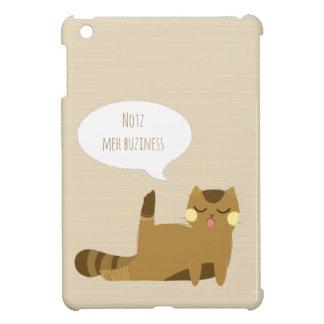 """Not my business"" Cat iPad Mini Case"
