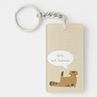 """""""Not my business"""" Cat Keychain"""