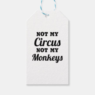 Not My Circus Gift Tags