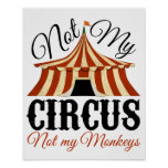 Not My Circus - Not My Monkeys Poster
