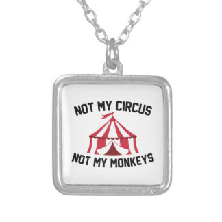 Not My Circus Silver Plated Necklace