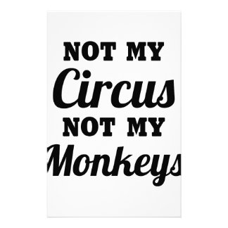 Not My Circus Stationery