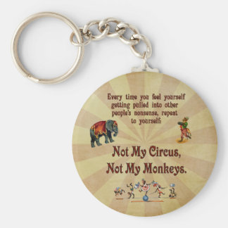 Not My Monkeys, Not My Circus Keychain