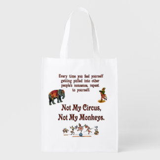 Not My Monkeys, Not My Circus Market Tote