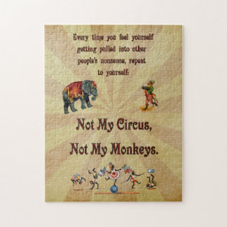 Not My Monkeys, Not My Circus Puzzles