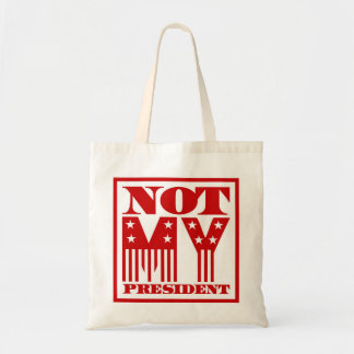 Not My President Stars and Stripes Red Tote Bag