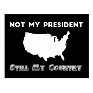 Not My President Still My Country Resist Protest Postcard