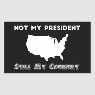 Not My President Still My Country Resistance Sticker