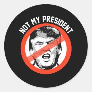 Not My President - Stop Trump Symbol -- Anti-Trump Classic Round Sticker