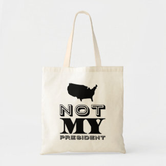 Not My President United States Black Tote Bag