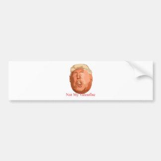 not my valentine bumper sticker