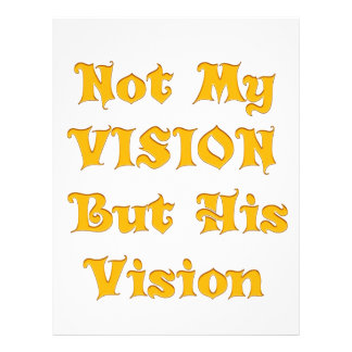 Not my Vision but His Vision Letterhead