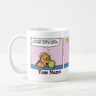 """Not Myself"" Garfield Comic Strip Classic White Coffee Mug"